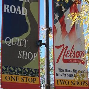 River Road Quilt Shop & Nelson Flag