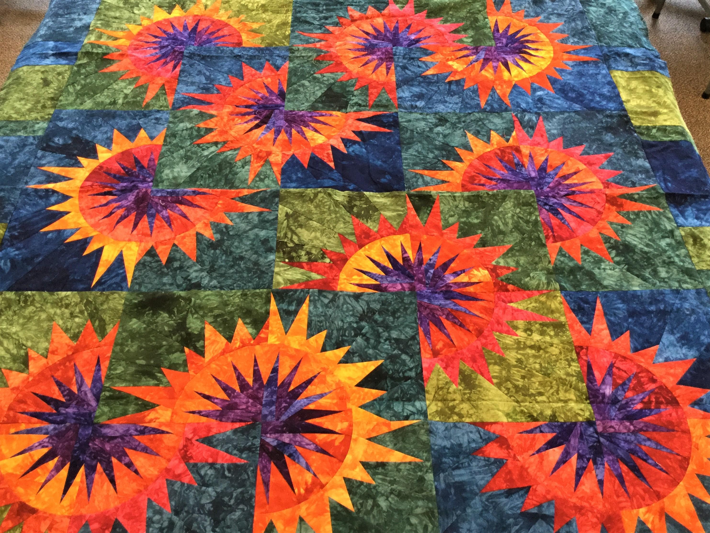 Sunflower quilt1